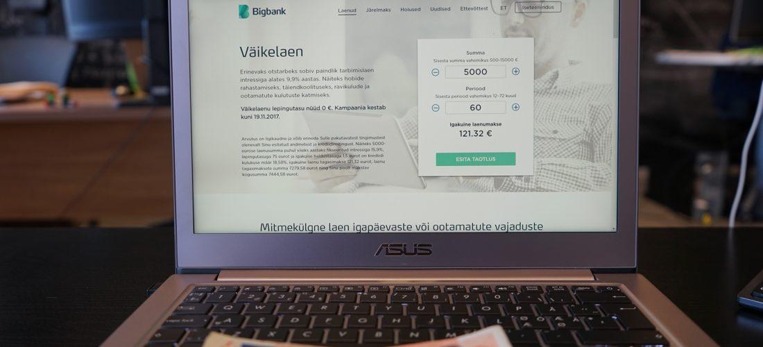 214f07a2600 Bigbank väikelaen 15 000 euroni. Kuidas taotleda Bigbank`i väikelaenu?